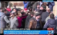 SPP hits the journalists and runs. The reaction of the Guard and Protection Service at the request Antena 3