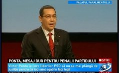 Victor Ponta, tough message against the party members with criminal records