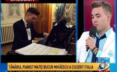 Daily Summary. The young pianist Matei Bucur Mihăescu has won Italy over