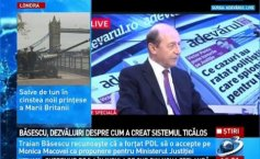 """I shoved Macovei down their throats"". Băsescu acknowledges that all those who ran the judicial system during his term in the office were his people"