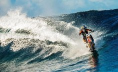 Riding the wave on a motorbike