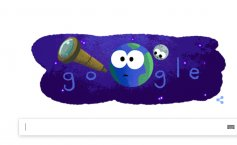 Exoplanet discovery. Google celebrates the recent exoplanet discovery with a Google Doodle