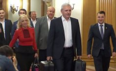 Liviu Dragnea came with two suitcases at a news conference