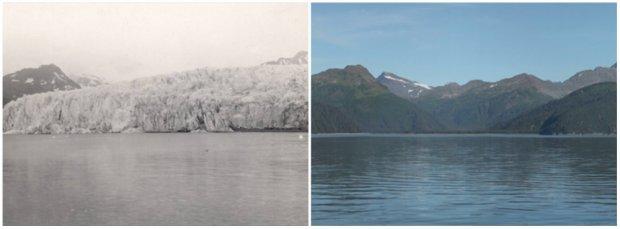 Gheţarul McCarty, Alaska. Iulie, 1909 — August, 2004
