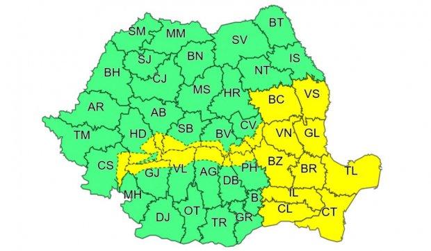 Avertizare meteo ANM de cod galben în jumătate de ţară