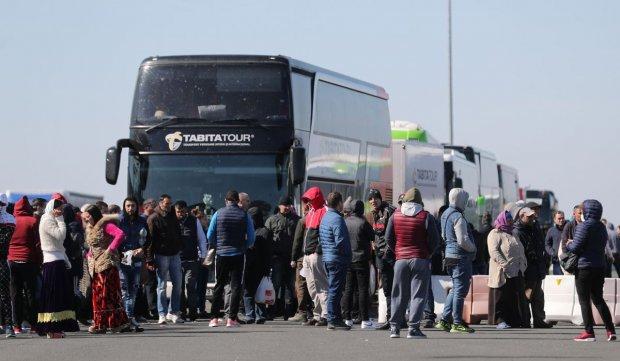 Români care se întorc în țară de Paște, la vama Nădlac