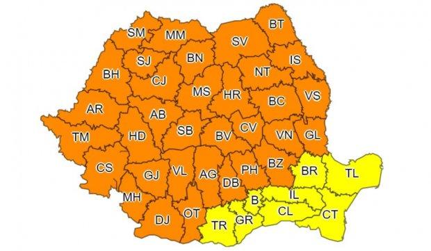 Avertizare meteo de vreme severă și fenomene extreme în Suceava