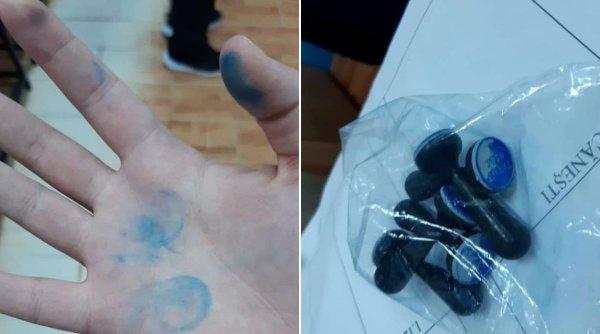 Ștampile deja folosite la o secție de votare din Vrancea. PSD și PNL se acuză reciproc de fraudă