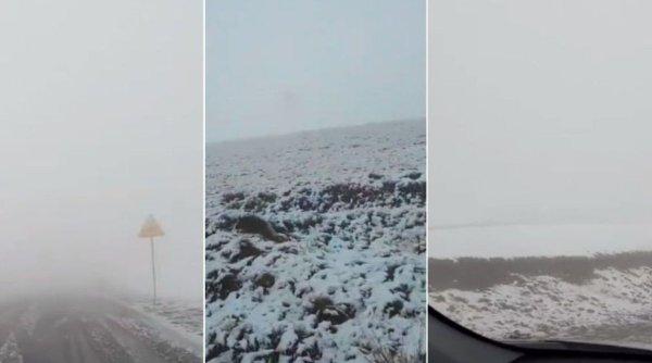 Prima zăpadă din acest sezon. A nins pe Transalpina