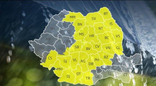 Ploi și vijelii în aproape toată țara: ''Vorbim de un ciclon foarte activ!''