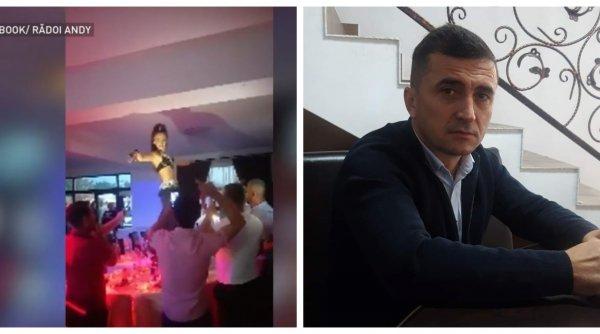 Dansatoare din buric pe mese, şampanie şi focuri de artificii în Dâmboviţa! Cum a sărbătorit noul primar victoria de la alegeri
