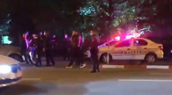 Atac mafiot în centrul municipiului Târgu Jiu, în faţa sediului Inspectoratului de Poliţie