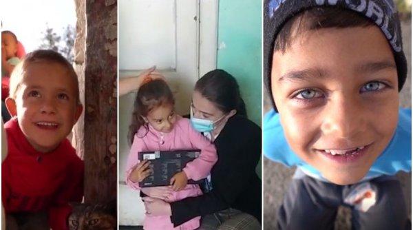 Alexandra, o tânără din Iași, a cumpărat tablete cu banii strânși pentru majorat și le-a donat copiilor care trăiesc într-un fost pichet militar, în Botoșani