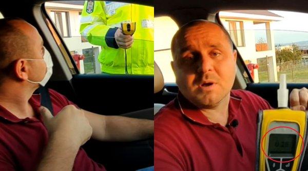 Un poliţist care s-a dat cu spirt pe mâini a fost găsit cu alcoolemie când a suflat în etilotest