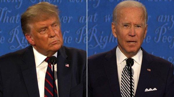 Spectacol total în SUA înainte de alegeri: Confruntare între Biden și Trump cu microfoanele tăiate. Ambii candidați s-au acuzat de manipulare și legături cu Rusia