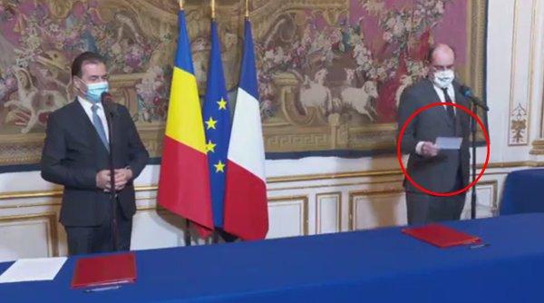 Premierul Franţei s-a uitat într-o foaie pentru a-i spune corect numele lui Ludovic Orban