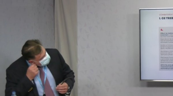 Alexandru Rafila a rămas fără aer în timp ce prezenta planul PSD pentru combaterea epidemiei de COVID-19