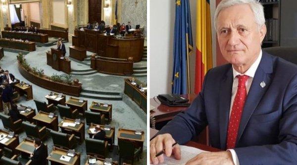 Senatorul PSD Ion Ganea, dat dispărut de două zile, spune că e în perfuzii. Nici azi nu a fost cvorum în Biroul Permanent din cauza lui