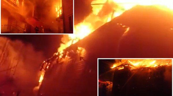 O femeie care nu se putea deplasa a fost salvată de pompieri în ultima clipă dintr-un incendiu la Vatra Dornei