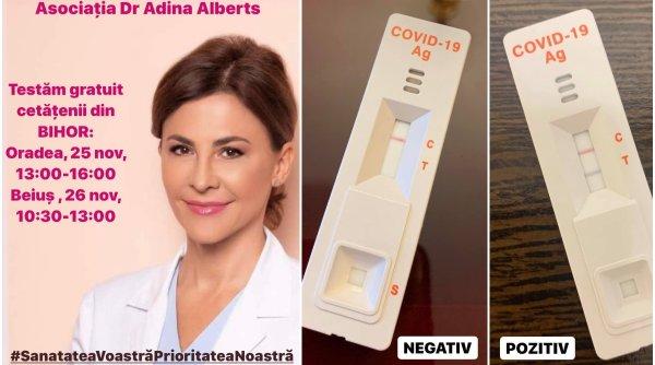 Adina Alberts, testare rapidă gratuită COVID -19 în Oradea