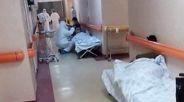 """Pacienți COVID, tratați pe paturi de campanie, pe holurile Institutului """"Matei Balș""""! Mihai Gâdea:""""Pur și simplu îți vine să plângi uitându-te la aceste imagini"""""""