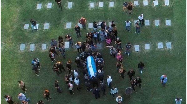 Adio, Diego! Maradona a fost înmormântat în cadrul unei ceremonii restrânse, cu doar 30 de persoane
