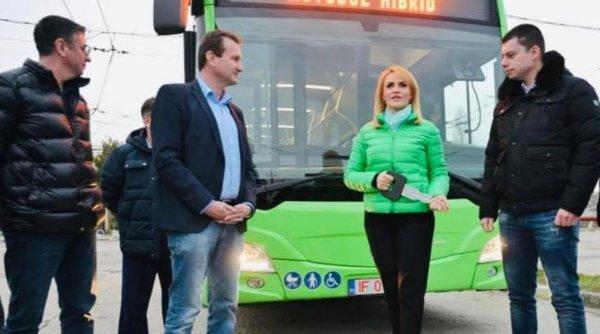 Gabriela Firea: Au ajuns în București și ultimele autobuze Hybrid Mercedes Citaro