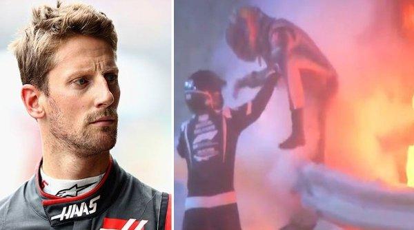Pilotul francez de Formula 1 Romain Grosjean, supravieţuire miraculoasă după ce bolidul i s-a rupt în două şi a luat foc