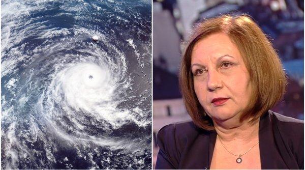 Elena Mateescu, directorul ANM, anunță când scăpăm de ploile puternice generate de ciclonul din Marea Neagră