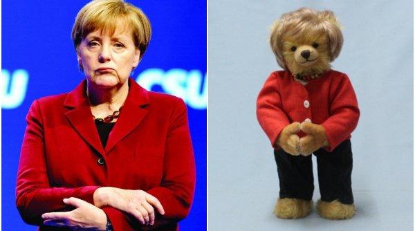 Ursul de pluș Angela Merkel a apărut pe piață, și costă 189 de euro
