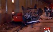 Accident �n Pasajul Lujerului din Bucuresti. Circulatia tramvaiului 41, blocata