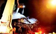 Incendiu puternic �ntr-un centru comercial din Suceava. Intervin toate echipajele de pompieri din Suceava, Gura Humorului si Falticeni
