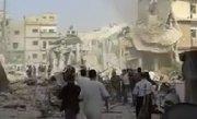 Un avion de vânătoare s-a prăbuşit în centrul unui oraş din Siria. Imaginile dezastrului