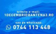 Antena 3 continuă consultarea populară pentru 1 Decembrie. Trimite înregistrarea ta pe 1decembrie@antena3.ro