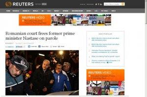 Presa internaţională, despre eliberarea lui Adrian Năstase