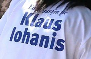 Klaus Iohannis, campanie cu numele greşit