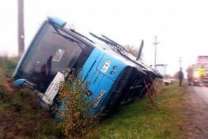 Un autocar cu 28 de români s-a răsturnat în Ungaria, aproape de graniţa cu România