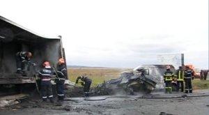 Trei oameni au murit ARŞI de vii în urma unui accident cumplit