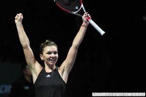 Performanţă istorică. Simona Halep a învins-o pe Radwanska şi s-a calificat în finala Turneului Campioanelor