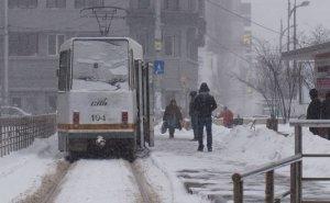 Prima ninsoare din acest an, în Capitală