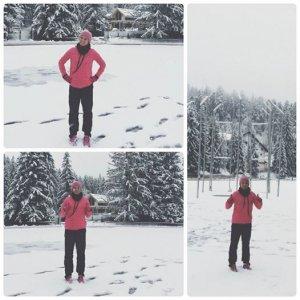 """Simona Halep, antrenament pe zăpadă: """"Să te trezeşti şi să fie iarnă, e ca-n poveşti!"""""""