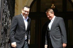 Întâlnirea Iohannis-Ponta s-a încheiat. Preşedintele şi premierul au discutat despre priorităţile guvernării