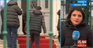 Traian Băsescu, aşteptat cu covorul roşu la PMP