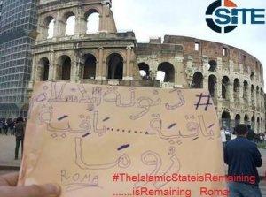 În timp ce Klaus Iohannis e la Roma, susţinători ai grupării Stat Islamic au publicat online fotografii ameninţătoare realizate în capitala Italiei