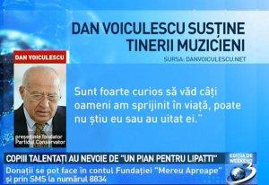 Dan Voiculescu susţine tinerii muzicieni
