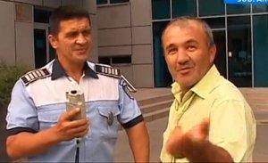 Un şofer beat criţă a făcut circ în sediul de poliţie