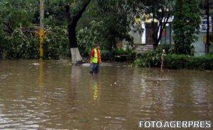 Cod portocaliu de inundaţii în judeţul Satu Mare