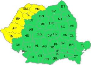 Cod galben de caniculă în Vestul țării. De marți, val de căldură în toată țara