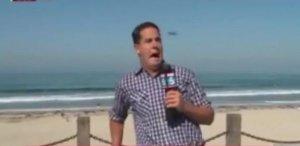 Cea mai mare frică a unui reporter se adevereşte în direct