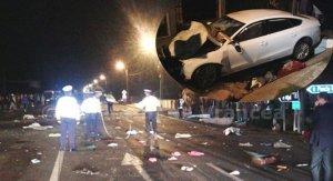Patru morți și opt răniți într-un accident pe E85, în județul Vrancea
